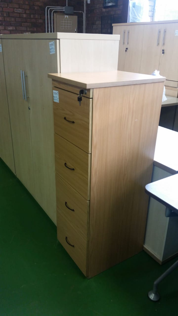 Oak Melamine 2 Drawer Filing Cabinet